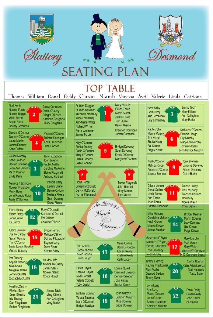 Image of GAA Seating Plan