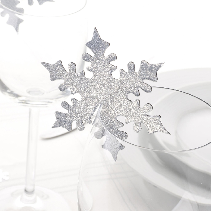 Image of Snowflake Glass Place Card