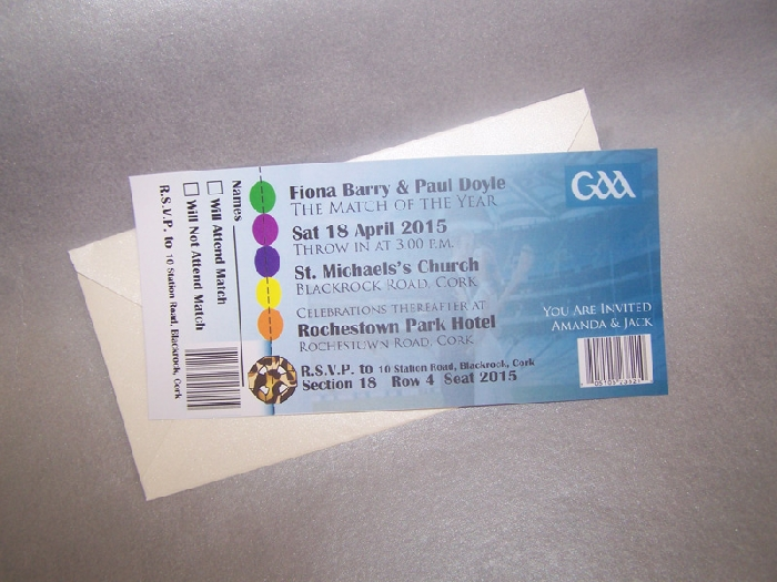 Image of Sports Ticket Invitation