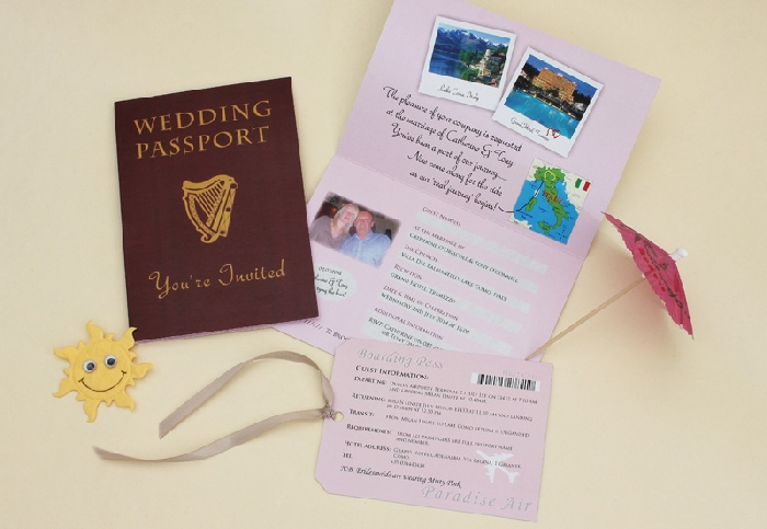 buy passport invitation online wedding invitation :: exclusively, Wedding invitations