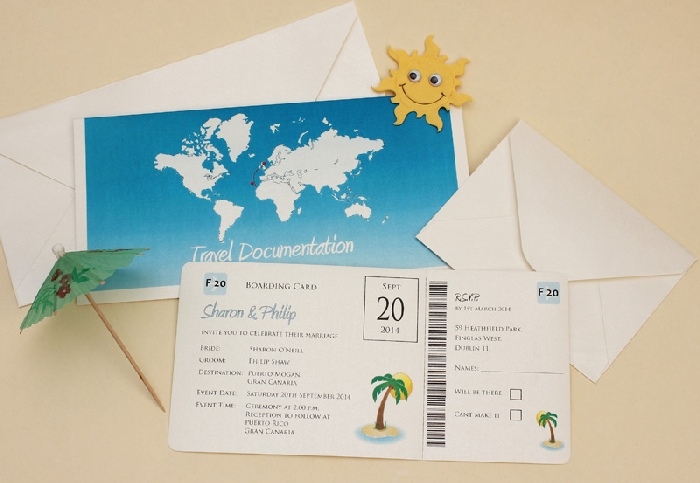 Image of Boarding Pass Invitation