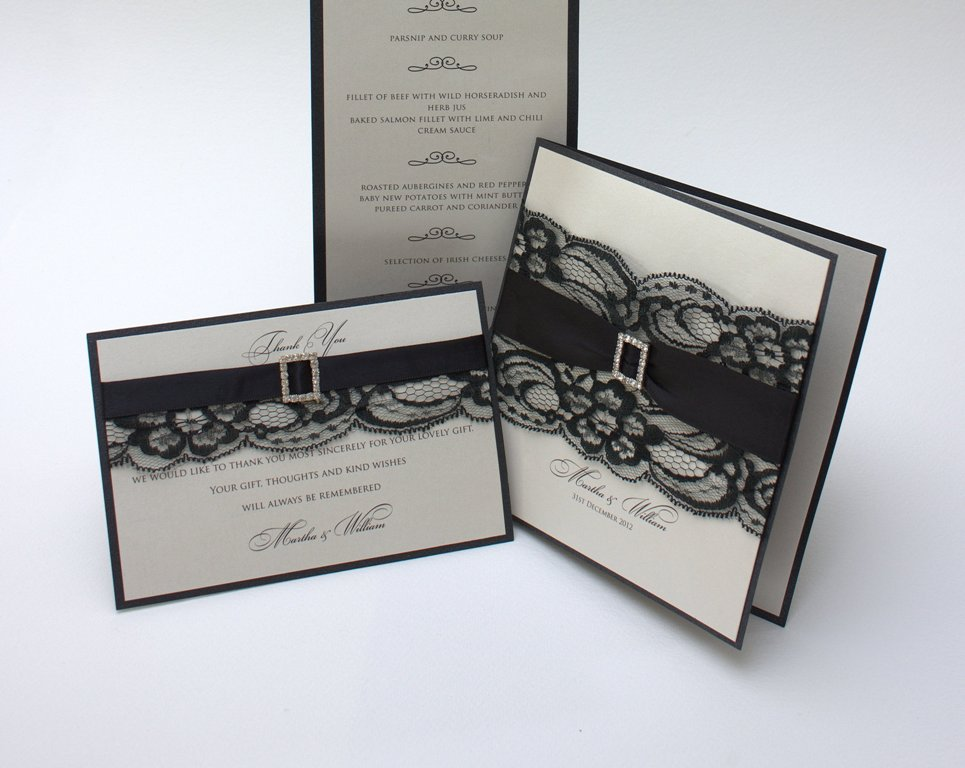 Image of Black Tie Wedding Invitation