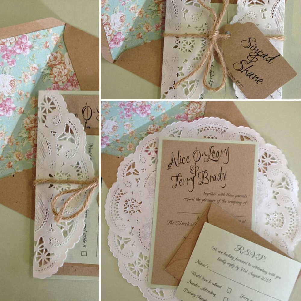 Image of Rustic Doily Invitation