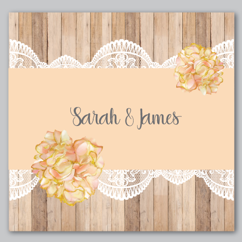 Image of Rustic & Lace Peach