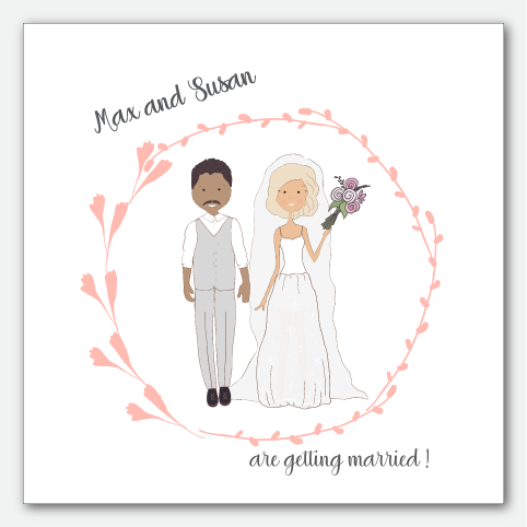 Image of Couple Pink Frame
