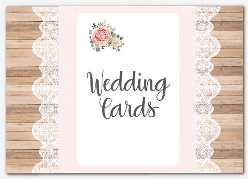 Image of Greeting Card Venue Sign
